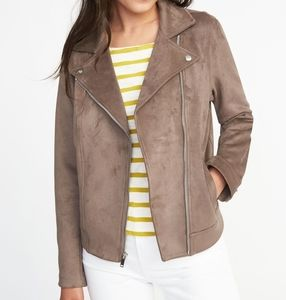 *Tall* Old Navy Sueded-Knit Moto Jacket